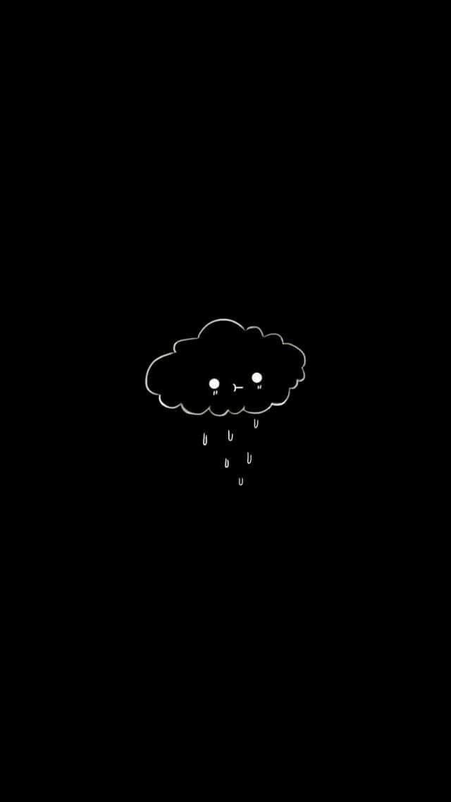 Sad cloud ( Art! em 2019 Iphone wallpaper, Screen