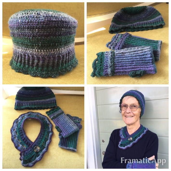 Chrochet/ hat/ cuffwarmers/ scarf