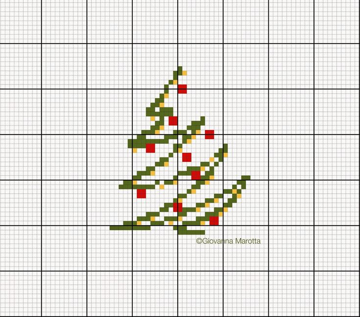 This single page has three small Christmas designs and all are free. Blog has many other charts, so go and have a look.