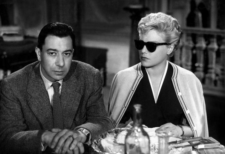 "Paul Meurisse and Simone Signoret in ""Les Daboliques"" directed by Henri-Georges Clouzot, 1955"