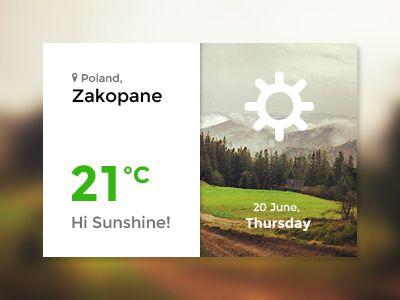 Weather Widget by Sylwia Bartyzel