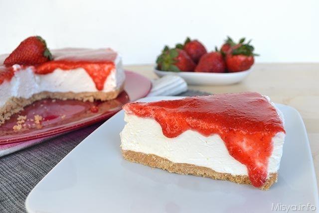 Torta fredda allo yogurt (senza colla di pesce!)