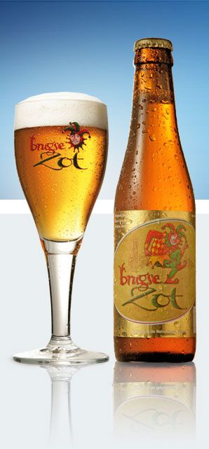Brugse Zot from Brewery De Halve Maan in Bruges, Belgium.  6%, score 7/10  A good soft blond beer.