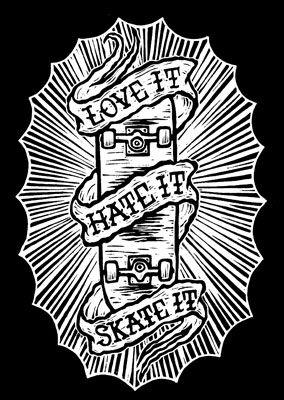 Skateboarding Drawing Tattoo