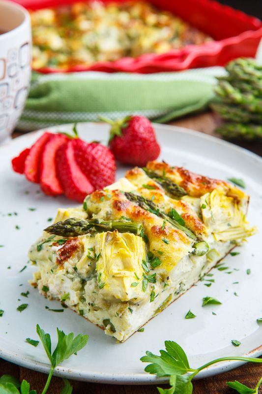Asparagus and Artichoke Breakfast Casserole