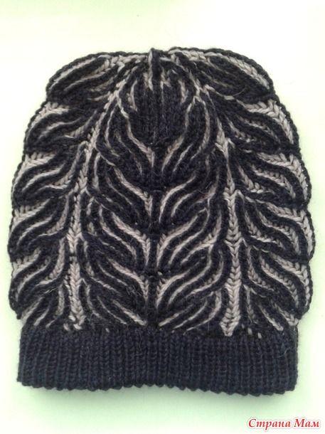 Очень понравился рисунок шапочки от мастерицы Марии, которая виртуозно вяжет шапочки в технике БРИОШЬ. НО...