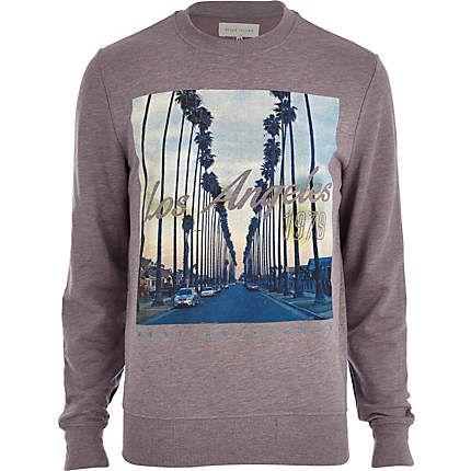 Purple Los Angeles 1978 print sweatshirt £25.00