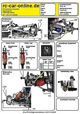 Setup sheet, y1219, 1 pce - rc-car-online Onlineshop Hobbythek