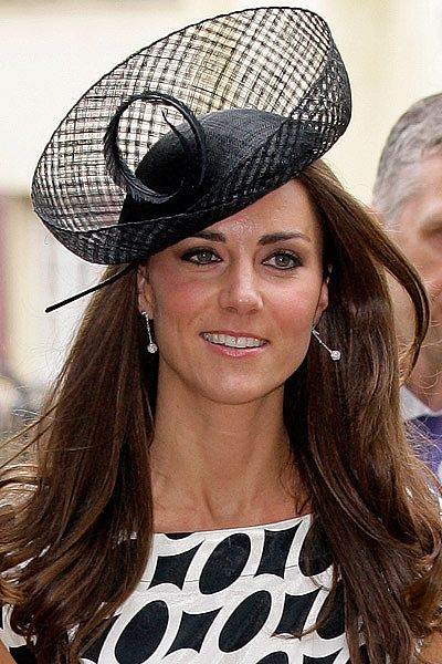 Kate Middleton wore a black, netted hat by the infamous milliner Philip Treacy, to the wedding of Sam Waley-Cohen and Bella Ballin, in June 2011.