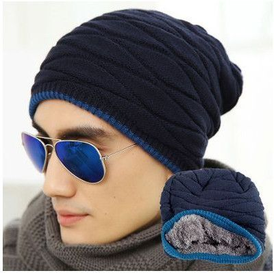 Unisex Spring Fashion Beanies Knit Beani Hat Winter Hat For Man And Women Solid Color Elastic Hip-Hop Cap Gorro Two Styles