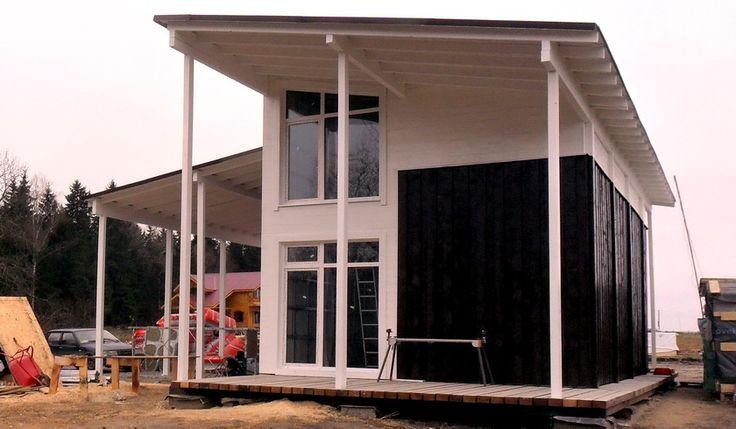 Шведский дом коттедж в Клину. Проект дома коттеджа бизнес класса Клин