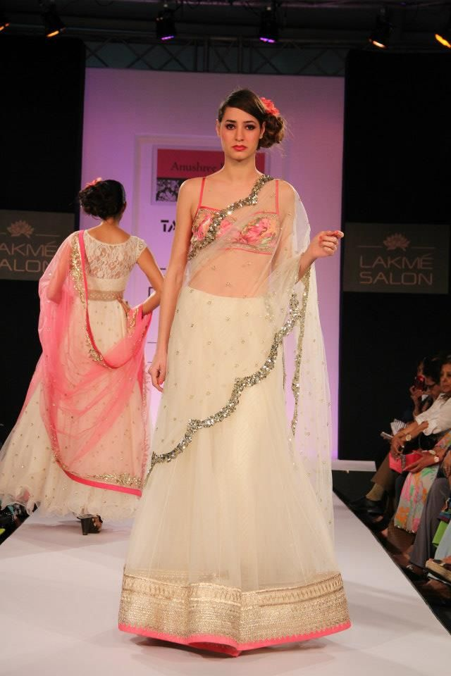 Indian Designer Anushree Reddy at Lakme Indian Fashion Week as part of Summer 2013. Follow Strand of Silk to get the best of Beautiful Indian Fashion from leading Fashion Designers, including Contemporary Indian Fashion and Indian Bridal clothes like Saris, Anarkalis, Salwar Suits, Lenghas, Indian Jewellery.