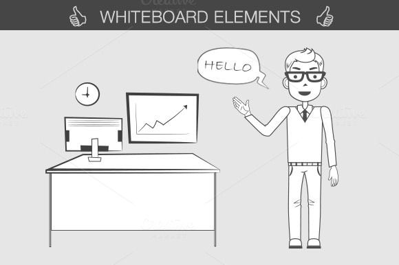 Check out Whiteboard elements kit by Dana Costin on Creative Market