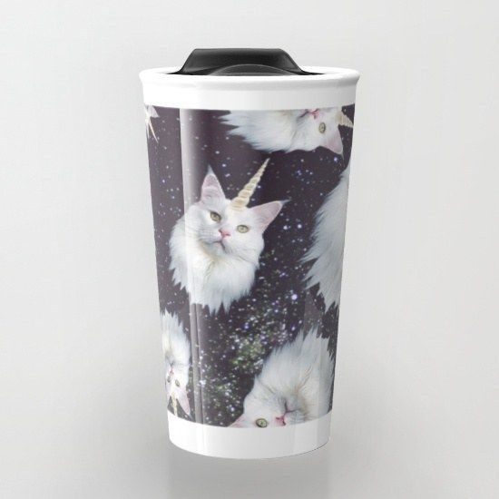 This magical travel cup. | 24 Things Every Crazy Cat Lady Needs In Her Life