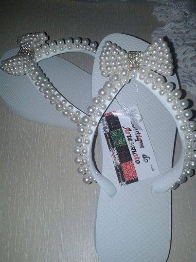 chinelos bordado