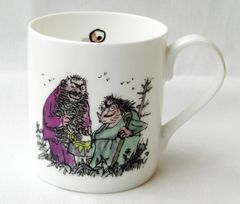 Fantabulous English bone china mug with quotes from Roald Dahl's most popular books and decorated with Quentin Blake's wonderful illustrations.  Text reads :   'Oh shut up you old hag', Mr Twit said.   Click on additional images to see the reverse. Your Price£7.50