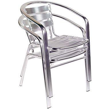 Euro Style™ Sadie Aluminum Stacking Arm Chair ~ $707.00 @ Staples