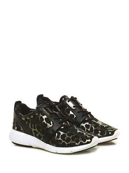 Michael Kors - Sneakers - Donna - Sneaker in pelle, tessuto tecnico e pelle…