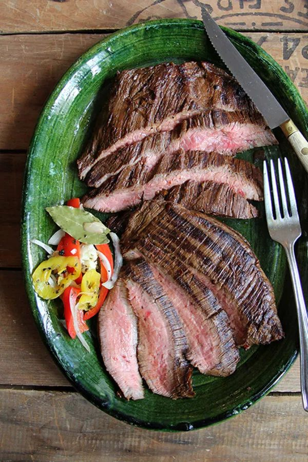 Strong coffee pairs with soy sauce and lightly caramelized garlic and onions in a marinade that leads to ultra-juicy flank steak.