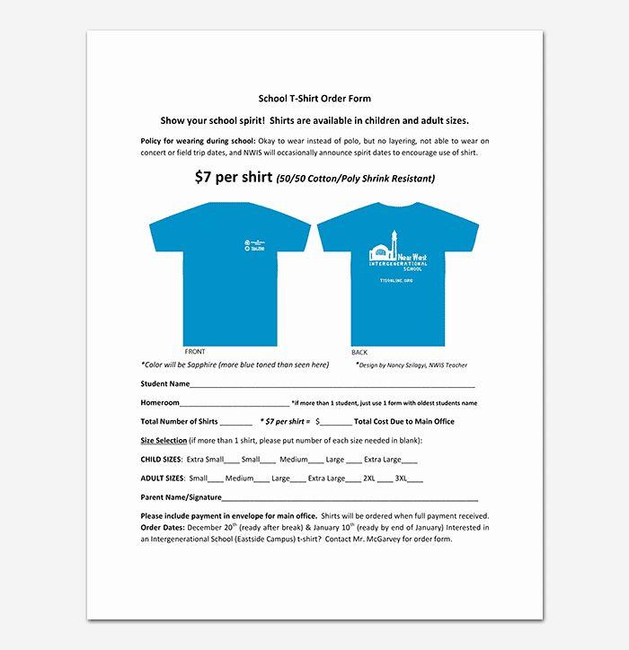 T Shirt Form Template Elegant T Shirt Order Form Template 17 Word Excel Pdf Order Form Template Cover Letter Template Free Communication Plan Template
