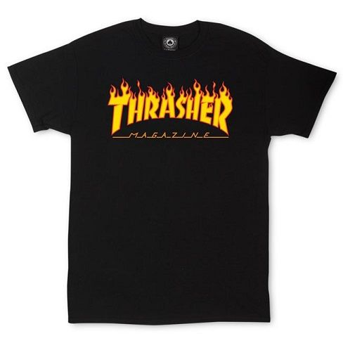 Thrasher Magazine Flame Logo T-Shirt Heavyweight, 100% pre-shrunk cotton T-shirt emblazoned with our classic Thrasher magazine flame logo.
