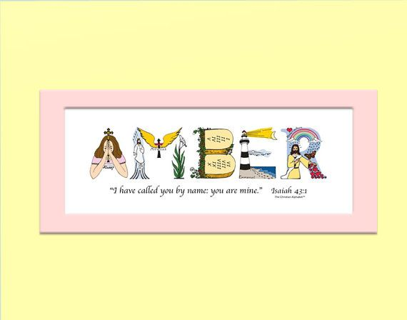 22 best baby gifts images on pinterest christian gifts baby personalized baby girl gift using letters from the christian alphabet to create a unique negle