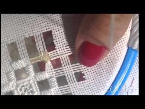 (42) Hardanger embroidery. - YouTube