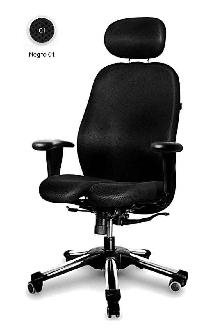 Altura del asiento 43 60 cm regulable en altura de forma for Silla oficina hernia discal