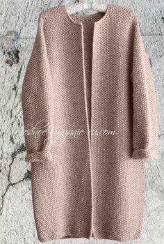 Пальто оверсайз связанное спицами - Модное вязание