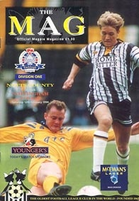 1993-94 Notts County FC Match Line-Up's & Details