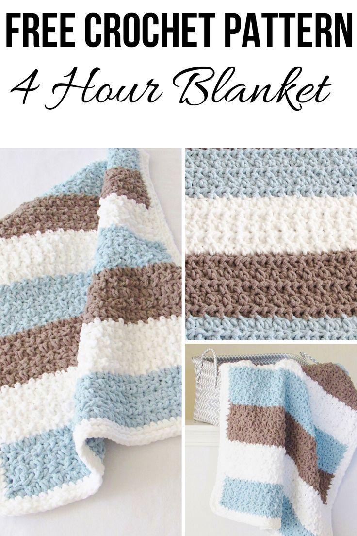 4 Hour Crochet Baby Boy Blanket Free Pattern Crochet Dreamz Easy Crochet Blanket Crochet Baby Blanket Free Pattern Crochet Blanket Pattern Easy