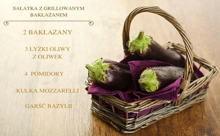 Sezon na spędzanie ciepłych wieczorów przy grillu został rozpoczęty. Jako dodatek do ciepłych dań z całą pewnością sprawdzi się sałatka z grillowanym bakłażanem, pomidorami, mozzarellą - z dodatkiem oliwy z oliwek oraz bazylii. Bakłażan grillujemy 2-3 minuty na każdą stronę, następnie pokrojony w paski łączymy z pozostałymi składnikami.