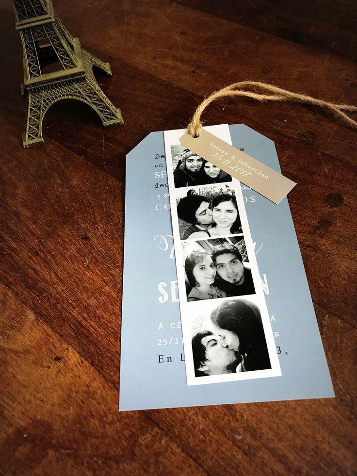 Invitación Tira de Fotos  #casamiento #fotos #tarjeta #invitacion #weddinginvitation #wedding #papeleria #diseñografico #diseñodebodas #graphicdesign #graficaparaeventos
