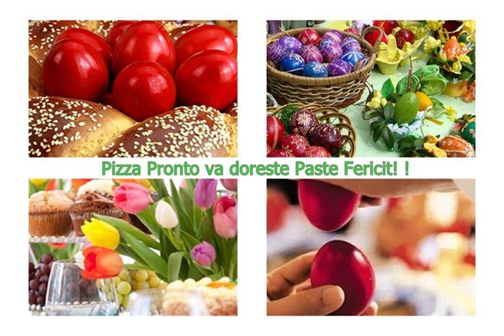 Oferta Masa de Paște 2015, meniu tradițional specific + cadouri surpriză din partea noastră și a iepurașului! Meniul îl găsiți aici  http://pizza-pronto.ro/index.php?route=product/category&path=66_74