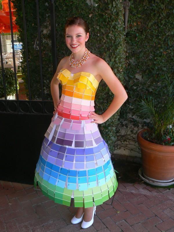 Paint Chip Card Dress  http://www.myspace.com/kirkyperky/photos/24992133