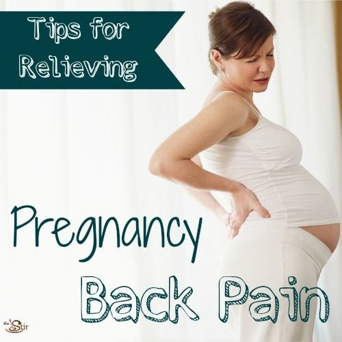Tips for relieving pregnancy back pain -- honestly, what mom wouldn't love to try #7? http://thestir.cafemom.com/pregnancy/177614/treat_relieve_pregnant_back_pain?utm_medium=sm&utm_source=pinterest&utm_content=thestir&newsletter