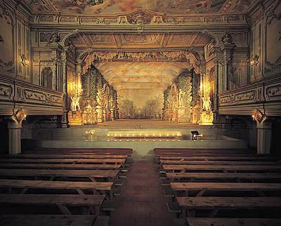 Guiseppe Galli Bibiena  - baroque theatre at Český Krumlov - Czech Republic