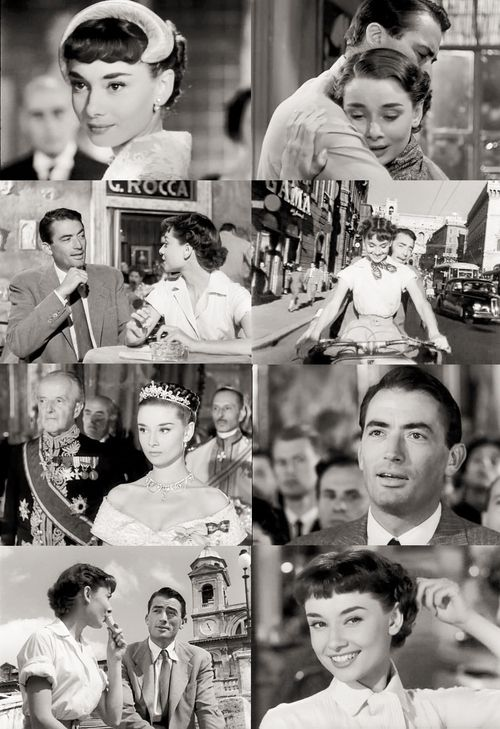 """""""Roman Holiday""""(1953) film directed by William Wyler featuring Gregory Peck & Audrey Hepburn"""