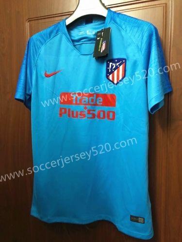 f1e0fb6b8dd 2018-19 Atletico Madrid Away Blue Thailand Soccer Jersey | Adults ...