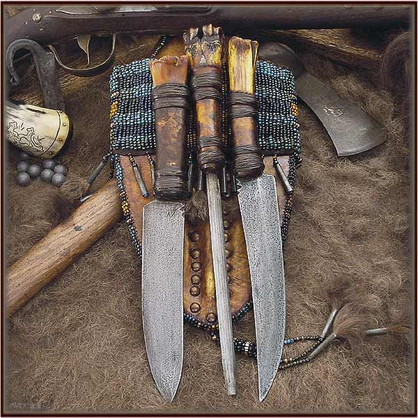 A Ciboleros buffalo hunting knife set and sheath…. - The Knife Network Forums : Knife Making Discussions