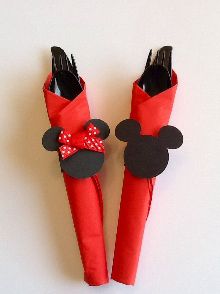 12 Mickey Mouse and Minnie Birthday Party Napkin by VSDesign68