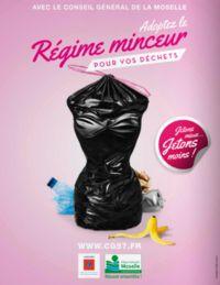 Poubelle en forme de femme: le conseil général de Moselle s'excuse !   Sa publicité en faveur du tri sélectif affichant un tronc de femme dans un sac poubelle a fait le bad buzz cette semaine: le Conseil général s'explique.  En savoir plus sur http://www.lexpress.fr/actualite/poubelle-en-forme-de-femme-le-conseil-general-de-moselle-s-excuse_1498092.html#VzAMWFDPWXSZcEu1.99
