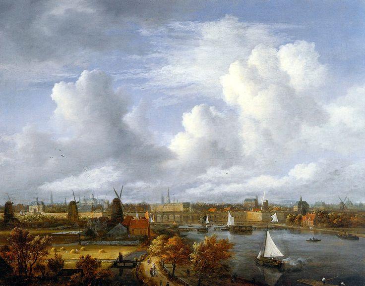 Jacob Isaackszoon van Ruisdael (1628-1682) - Panoramic View on the Amstel Looking Toward Amsterdam