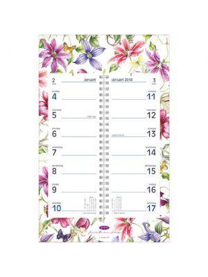 OMLEGkalender op schild Janneke Brinkman-Salentijn. CLEMATIS 2018  Nu te koop in de https://www.jannekebrinkmanshop.com/