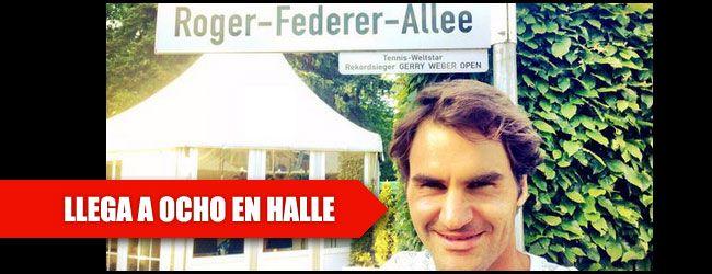 El octavo de Federer en Halle. El suizo Roger Federer sigue haciendo historia en el mundo del tenis y se ha convertido en el tercer tenista de la Era Abierta en ganar en ocho ocasiones el mismo torneo, después de proclamarse campeón en Halle. Hasta la fecha, el español Rafa  Nadal con nueve Roland Garros y ocho Barcelona y Montacealo, y el argentino Guillermo Vilas, ocho veces ganador en Buenos Aires, estaban en este exclusivo club.