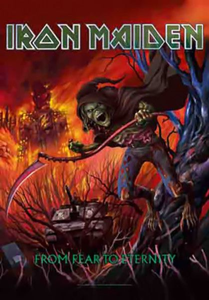 Iron Maiden Poster Flag From Fear To Eternity Tapestry