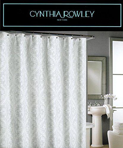 Cynthia Rowley Medallion Lace Gray Grey White 100 Cotton