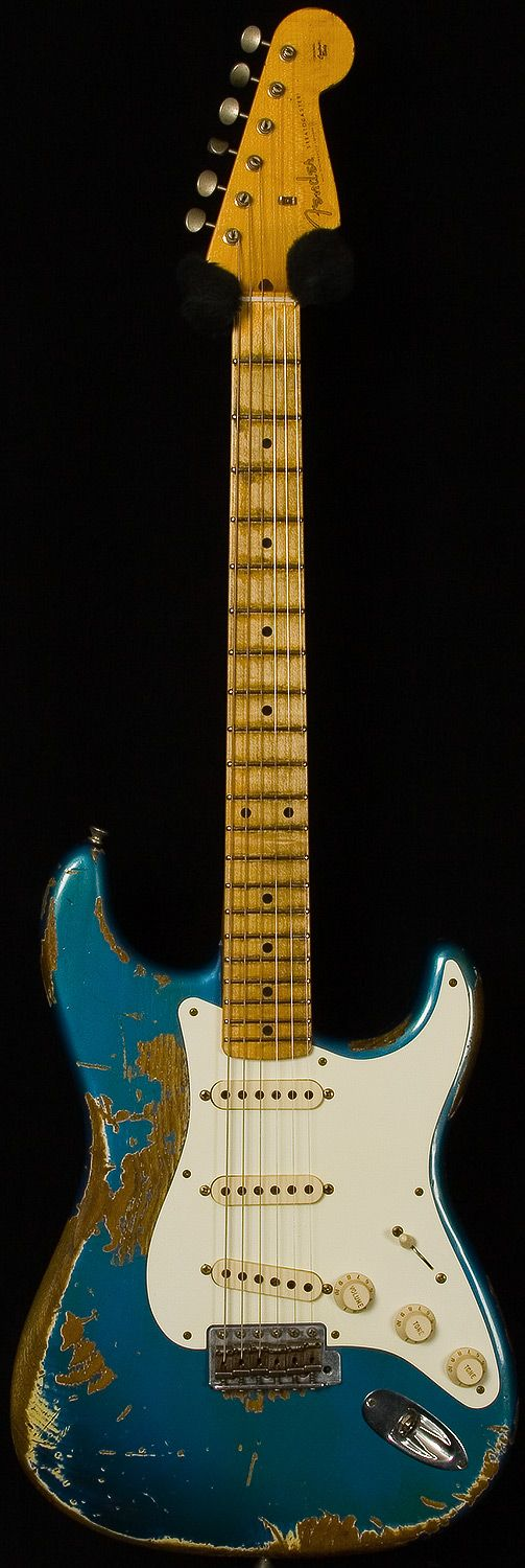 Fender Custom Shop 57 Heavy Relic Stratocaster - Lake Blue Placid. What Im basing my guitar on. But not as beaten up.