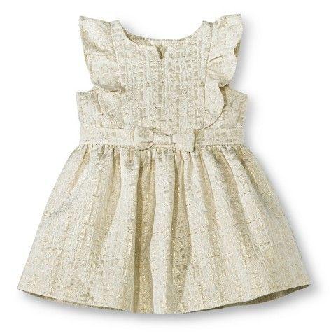Infant Toddler Girls' Woven Metallic Dress