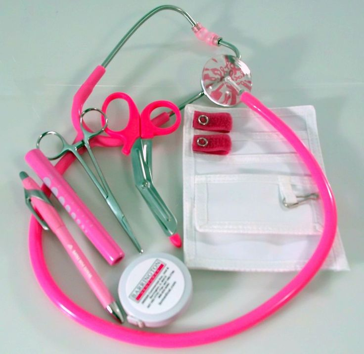 Breast Cancer Awareness Nurse Kit with Hot Pink Stethoscope #BVMedical